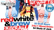 $20 for 4 Tickets to the Red, White & Brew 4th of July Pub Crawl (reg. $40)