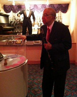 Dr. Frank Adams at the Alabama Jazz Hall of Fame