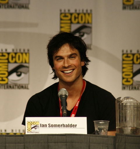 Ian Somerhalder on the stage of Comic Con