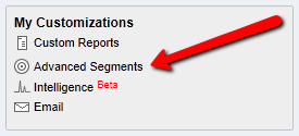 google analytics advanced segments seo