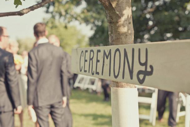 ceremony sign on tree