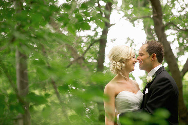 -bride groom outdoor trees