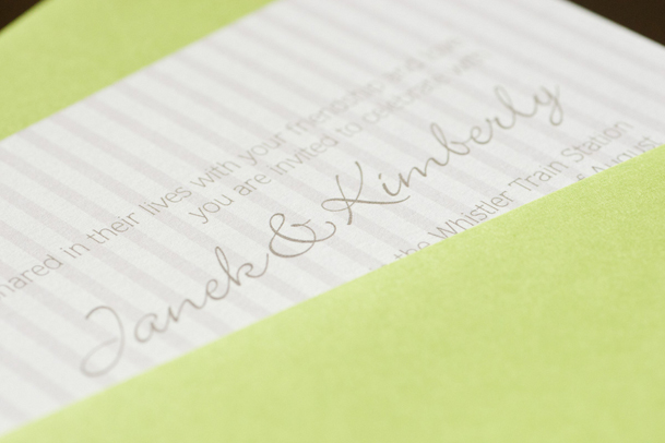 lime green wedding invitations