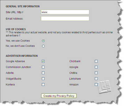 Privacy Policy Generator for Google Adsense Publishers!