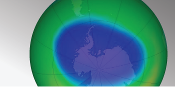 Ozone hole measured bu AURA OMS