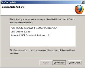Firefox Broken Add-ons