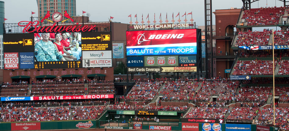 Boeing Salutes the Troops at Busch Stadium (Photos/Video)