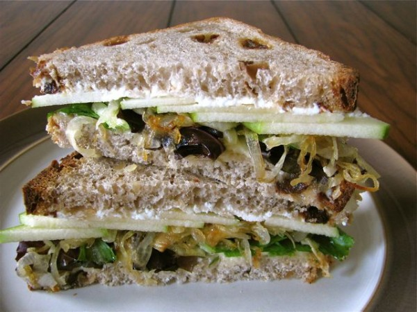 Monday Musings + Goat Cheese, Brie, and Caramelized Onion Sandwich with Apples (revisited)