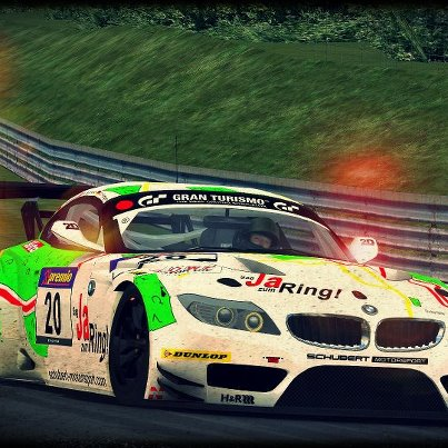 Photo: video game rendering of the STR-Schubert Motorsport Z4. Thanks to the mod by Marijo Pecigus. The skin by Marian Muhle and update by Daniel Ludwig. Only the screen shot is mine. game = GTR2. Long live the 'Ring !!!!