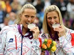 Czech women's Tennis doubles pair Lucie Hradeka and Andrea Hlavackova win silver