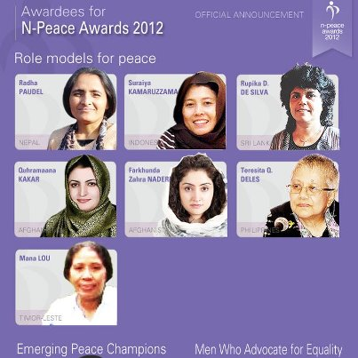 Photo: We are pleased to announce the N-Peace Awards 2012 Awardees!