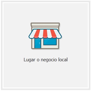 Pagina de Facebook Lugar o Negocio Local