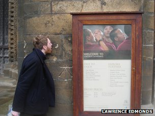 Lawrence licking Lincoln cathedral