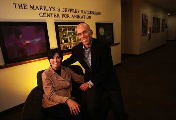 Jeffrey Katzenberg, CEO of DreamWorks Animation, pictured with wife Marilyn, will receive the Jean Hersholt Humanitarian Award at the annual Governors Awards on Dec. 1.