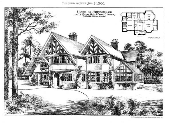 1900 – House at Farnborough, Hampshire