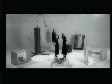 """Mike Kelley, """"A Dance Incorporating Movements Derived From Experiments Of Harry F. Harlow and choreographed in the manner of Martha Graham (video still)"""