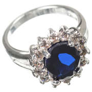 Kate Middleton Royal Engagement style silver plated ring
