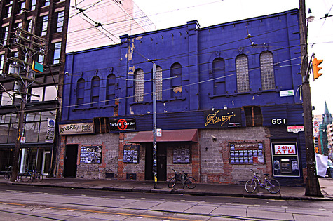 Big Bop's purple exterior