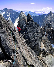 Wayne Wallace on 2004 traverse attempt. Photo by Josh Kaplan