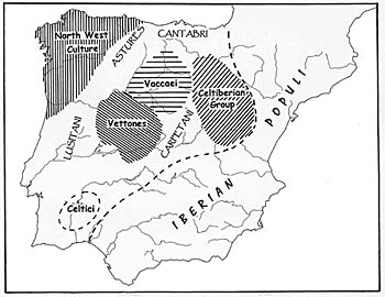 Figure 14. 'Celtic' archaeological groups in the Late Iron Age of Iberia.