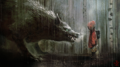 Red Riding Hood Picture  (2d, fantasy, wolf, kid)