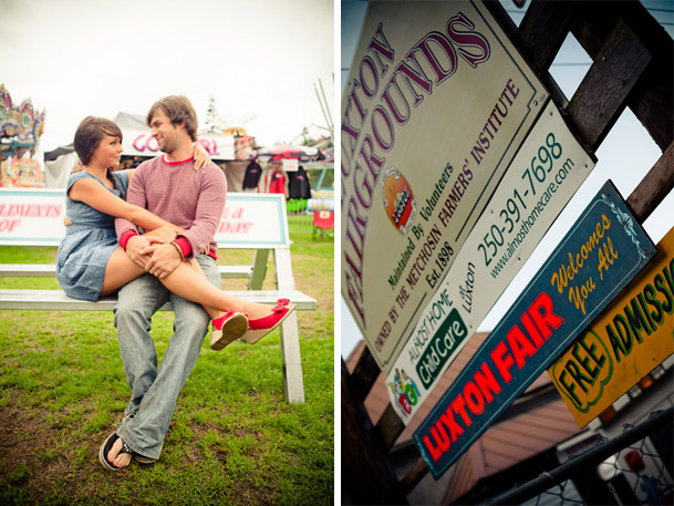 Styled Engagement Shoot At Deer Lake BC - victoria fair carnival engagement session BC 2