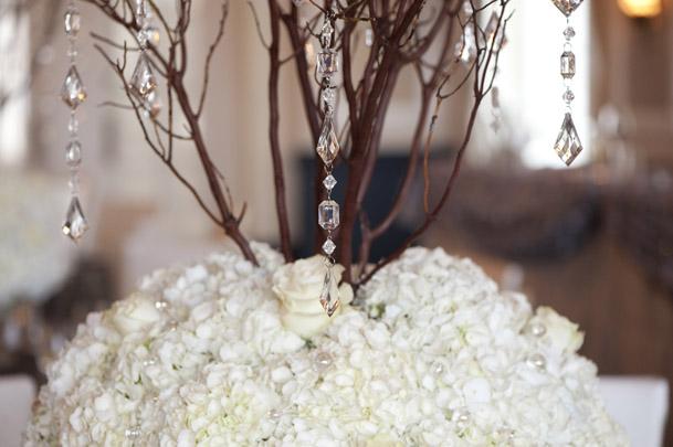 branched centerpiece hydrangea