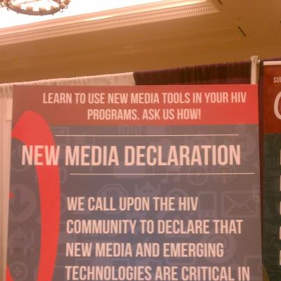 Photo: Share your commitment to new media.   We call upon the HIV community to declare that new media and emerging technologies are critical in helping us connect, create, listen, learn, and engage as we move closer to an AIDS-free generation.