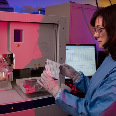 """Photo: """"Newborn screening has a direct impact and translates into saving babies' lives."""" CDC laboratory scientist Suzanne Cordovado helps ensure newborn screening works as designed – finding babies with conditions affecting their long-term health or survival. http://is.gd/l3hyty"""