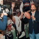 """Photo: See Franco Harris' gold Hall of Fame jacket and the Immaculate Reception ball at """"Gridiron Glory.""""  Learn more about the exhibition: http://www.heinzhistorycenter.org/exhibits.aspx?ExhibitID=40"""
