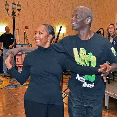 Photo: Photo of the day: U.S. Army Veteran Lewis Neal and his dance partner Leslie Mallory rehearse their routine for the stage show at the National Veterans Creative Arts Festival. The week-long festival uses creative arts as one form of rehabilitative treatment to help Veterans recover from and cope with physical and emotional disabilities.