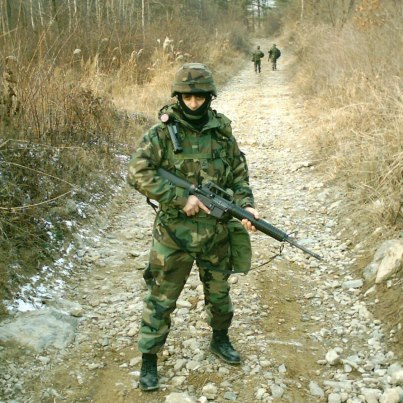 Photo: Photo of the day: Elie Kachouh served in the U.S. Army from 2003-2007. He's pictured training in South Korea. Thank you for your service, Elie!