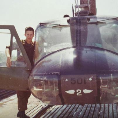 Photo: Photo of the day: Francis Southcott served in the U.S. Army as an Aviator with Alpha Company, 229th Assault Helicopter Battalion, 1st Cavalier Division. He went on to fly search and rescue missions with the U.S. Coast Guard and eventually became a pilot for American Airline. He is photographed in Tây Ninh, Vietnam in October, 1969. Thank you for your service, Francis!