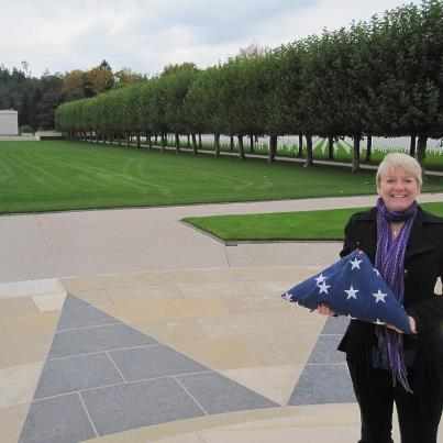 Photo: Alison Arngrim, better known as her character Nellie Oleson from Little House on the Prairie, paid a visit to Epinal American Cemetery in France to honor the fallen.