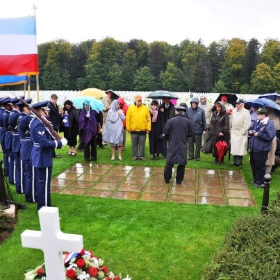 Photo: A group from the George C. Marshall Foundation visited Luxembourg American Cemetery this week, and laid wreaths in the chapel and at the grave of Gen. George S. Patton, Jr.