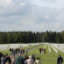 Photo: Ardennes American Cemetery in Belgium hosted an adoption ceremony to acknowledge those local citizens that have adopted a gravesite in the past year.   As a tradition that has occurred unofficially since the end of World War II, adopting a gravesite is an honored practice where local citizens pledge to help remember those buried and memorialized at our sites. Typically, someone who has adopted a grave will remember the fallen individual by placing floral decorations on important dates at the gravesite or wall of the missing.