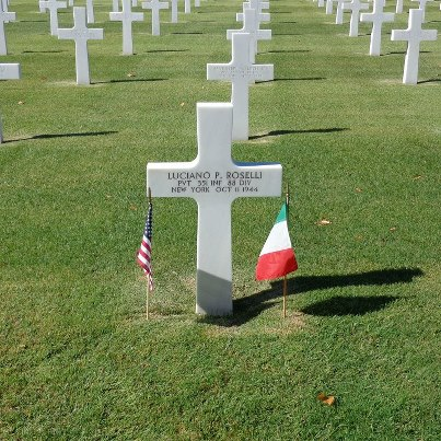 Photo: Today, we remember Luciano P. Roselli.  Private, The U.S. Army Service # 42035354 351st Infantry Regiment, 88th Infantry Division   Entered the Service from: New York Died: October 11, 1944 Buried: Plot A, Row 4, Grave 24 Florence American Cemetery Florence, Italy   Awards: Purple Heart