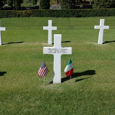 Photo: Today, we remember Orlando J. Leone.  Corporal, The U.S. Army Service # 32869837 351st Infantry Regiment, 88th Infantry Division   Entered the Service from: New York Died: October 12, 1944 Buried: Plot H, Row 12, Grave 26 Florence American Cemetery Florence, Italy   Awards: Purple Heart