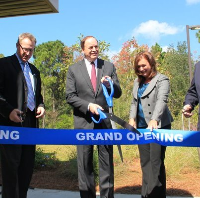Photo: U.S. Senator Richard B. Shelby (Ala.) joined NOAA Fisheries Assistant Administrator Eric Schwaab (left) and NOAA National Ocean Service Assistant Administrator David Kennedy (right) in cutting the ribbon formally opening the new Gulf of Mexico Disaster Response Center today.  http://go.usa.gov/Y5CC