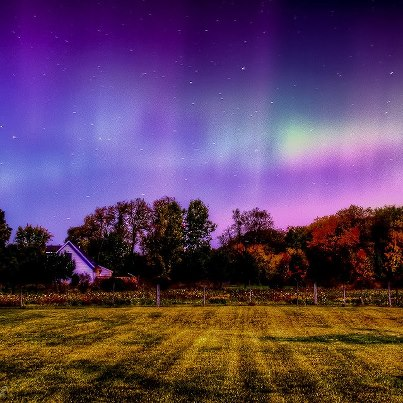 Photo: Did you catch a glimpse of the aurora during the geomagnetic storming Sunday night? Share your best photographs through the NOAA Aurora Spotters Group on Flickr: http://www.flickr.com/groups/noaaauroras/. Here's a fantastic photo from southern Michigan, courtesy of NOAA Aurora Spotter/photographer Eric Dobis of Dobis Images ... Get the latest space weather updates at http://www.swpc.noaa.gov/.