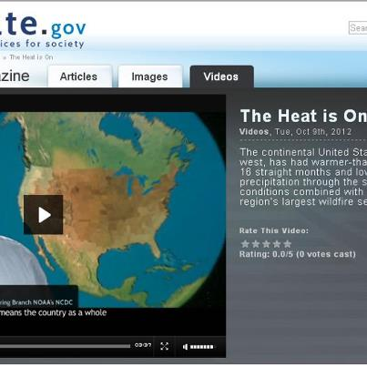 Photo: U.S. dryness in September 2012 helped fuel wildfires in the West, where nearly 1.1 million acres burned. http://www.climatewatch.noaa.gov/video/2012/the-heat-is-on