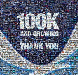 Photo: NOAA's Facebook page reached quite a milestone today - 100,000+ likes and growing. We got here thanks to the efforts of the NOAA social media team that spans our agency, all dedicated to bringing you science information that can be entertaining and useful. We also reached that threshold thanks to you, our readers, we literally couldn't have done this without you. Let us know what your favorite post or photo was over the past few years or let us know why you follow us on Facebook. And don't forget we're also on Twitter, join us @NOAA.