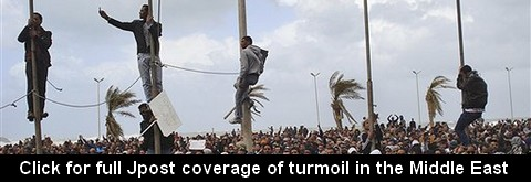 Click for full Jpost coverage of  turmoil in the Middle East
