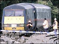 The scene of the Hatfield crash in 2000