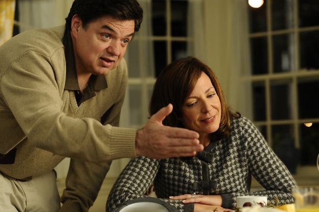 """Oliver Platt and Allison Janney play the Ostroffs, a couple whose daughter has an affair with a neighbor in """"The Oranges."""" Photo: Myles Aronowitz, ATO Pictures / SF"""