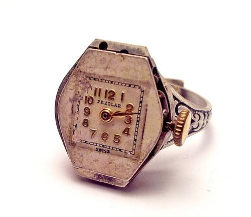 Steampunk Jewelry Ring Vintage Watch Movement