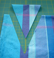 cut the fabric around the template