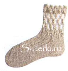 Вязание носков с узорами