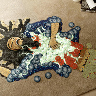 Rock icons reborn as CD mosaics