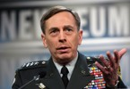 Petraeus speaks to the media in Washington during his time as commander in Iraq.